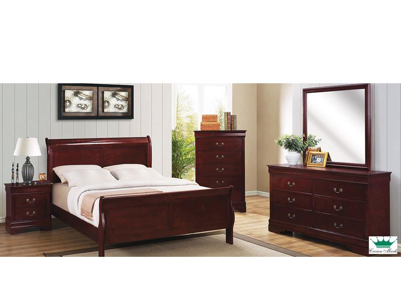 Cherry Louis Philippe 5 Piece Queen Bedroom Set Solly S Furniture